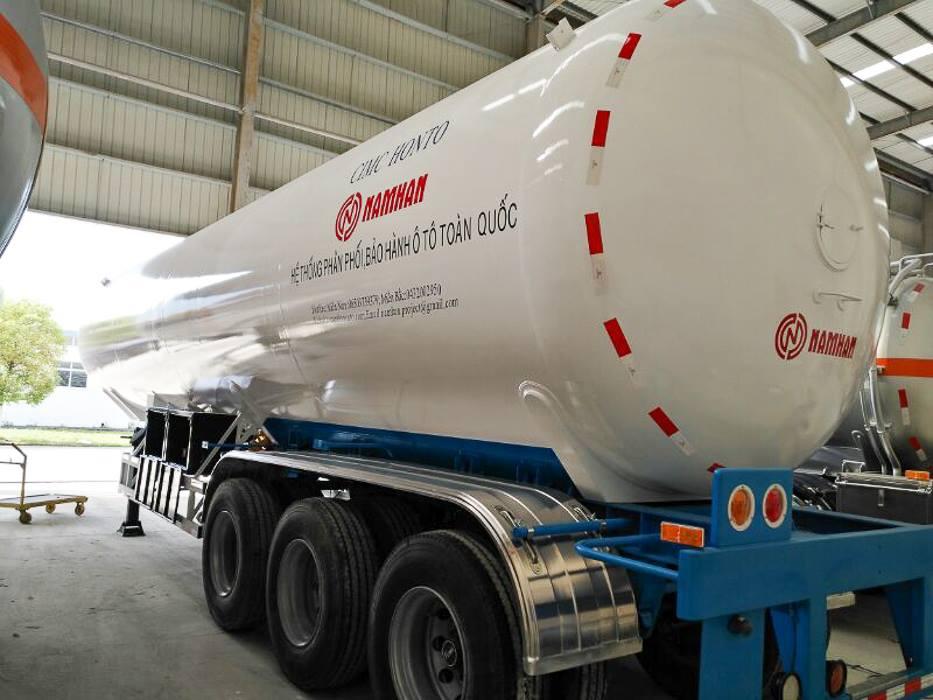 Ro mooc bồn chở LPG Công ty TNHH Nam Hàn - Nam Hoa phân phối