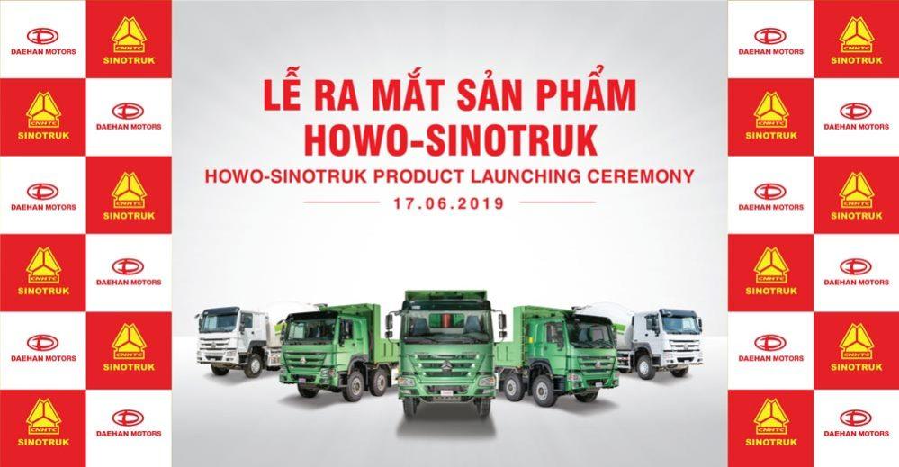 Daehan Motors ra mắt xe tải nặng Howo Sinotruk
