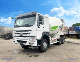 Xe trộn bê tông Howo 12 khối xe trộn Hovo 12 khối nhập khẩu 12m3