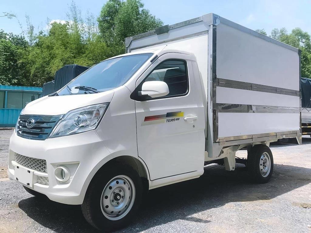 Xe tải 900kg, xe bán hàng lưu động thùng cánh dơi