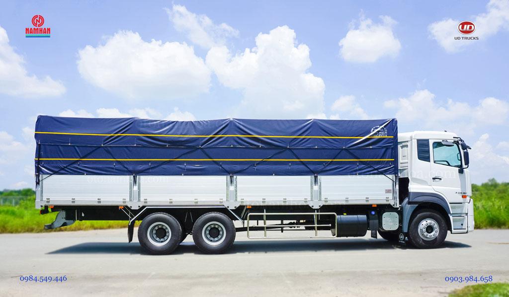 Xe tải 15 tấn 3 chân thùng mui bạt UD Quester CDE 280 6x2 nhập khẩu và phân phối bởi Công ty TNHH Nam Hàn - UD Trucks Việt Nam - Nam Hàn Group