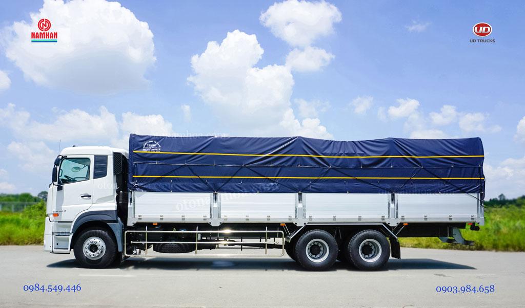 Xe tải thùng mui bạt 3 chân 15 tấn UD Quester CDE 280 6x2 nhập khẩu và phân phối bởi Công ty TNHH Nam Hàn - UD Trucks Việt Nam - Nam Hàn Group